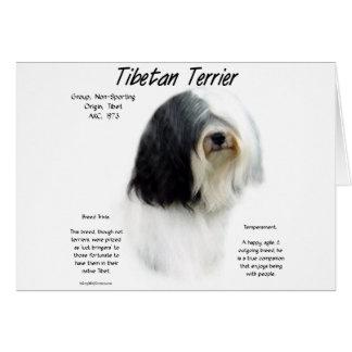 Carte Conception d'histoire de Terrier tibétain