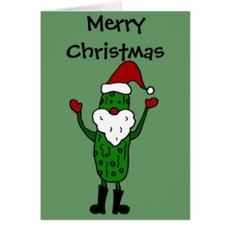 Carte Conception drôle de Noël du père noël de conserves