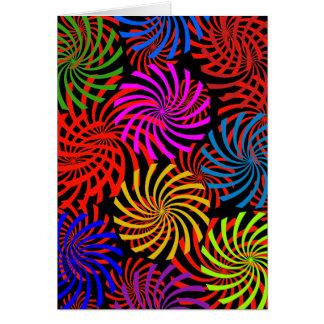 Carte Conception en spirale de remous de menthe poivrée
