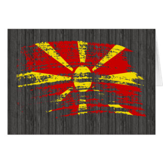 Carte Conception macédonienne fraîche de drapeau