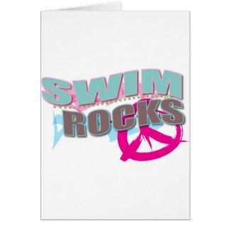 Carte Conception mignonne pour des nageurs