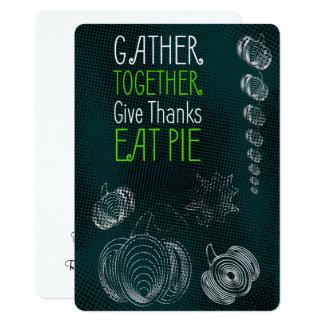 Carte Conception rustique de thanksgiving avec des