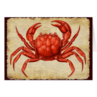 Carte Conception vintage de crabe