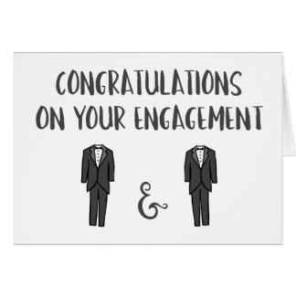 Carte Congrats sur votre fiançailles - couple gai