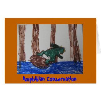 Carte Conservation amphibie