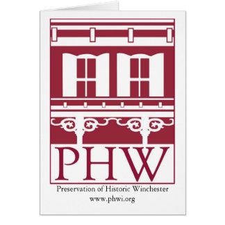 Carte Conservation de logo historique de Winchester