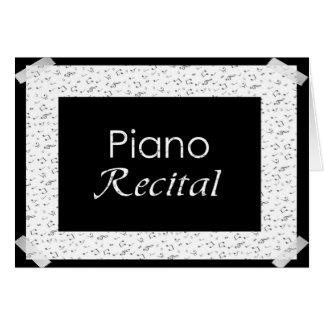 Carte Considérant de piano
