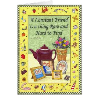 Carte constante d'amitié d'amitié