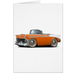 Carte Convertible 1956 Orange-Blanc de Chevy Belair