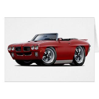 Carte Convertible marron de 1970 GTO