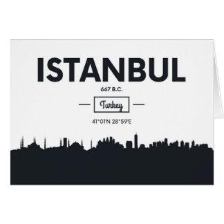 Carte Coordonnées de ville d'Istanbul, Turquie |