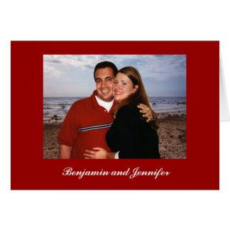 Carte Copie, Benjamin et Jennifer de PLAGE