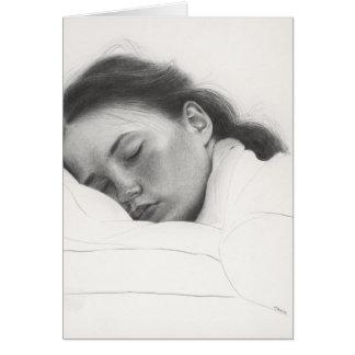 """Carte Copie d'art du dessin original """"beauté de sommeil"""