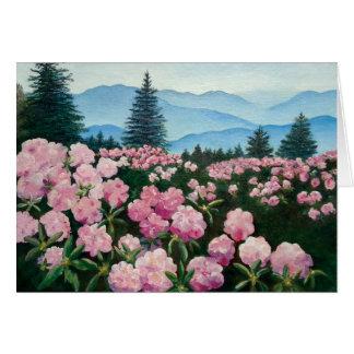 Carte Copie rouane de beaux-arts de rhododendron de Mt