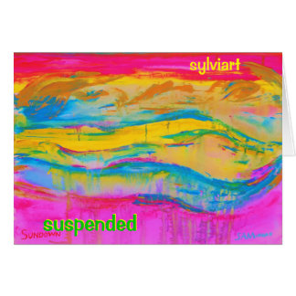 Carte Copyright SUSPENDU SylviART 2011