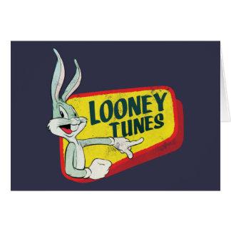 Carte Correction LOONEY du ™ TUNES™ de BUGS BUNNY rétro