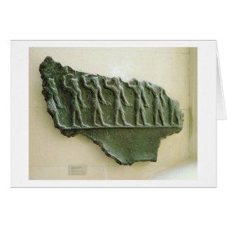 Carte Cortège des guerriers d'Elamite, Susa, Iran,