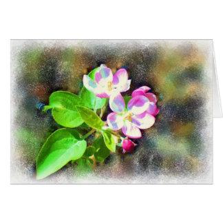 Carte cosmique de fleurs