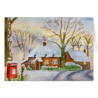 Carte cottage d'hiver