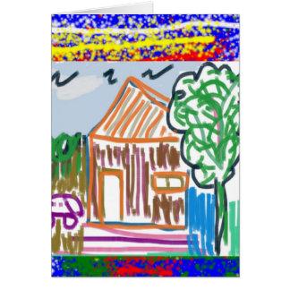 Carte COTTAGE MIGNON : AMUSEMENT doux d'art de la maison