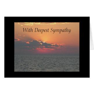 Carte Coucher du soleil à la plage avec la sympathie la