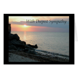 Carte Coucher du soleil à la sympathie de plage