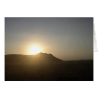 Carte Coucher du soleil africain 2