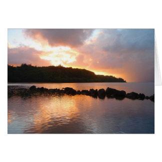 Carte coucher du soleil @ ANINI, KAUAI