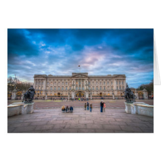 Carte Coucher du soleil au Buckingham Palace, Londres