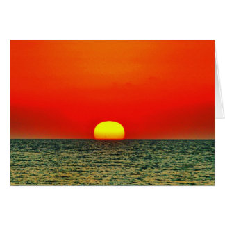 Carte Coucher du soleil au-dessus du Med