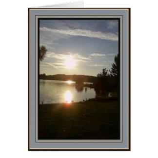 Carte Coucher du soleil canadien - au revoir