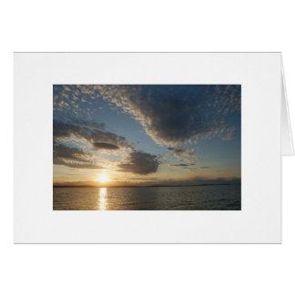 Carte coucher du soleil d'alki