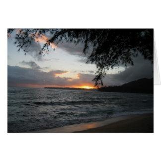 Carte Coucher du soleil dans Kauai