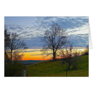 Carte Coucher du soleil de ferme de la Géorgie