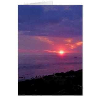 Carte Coucher du soleil de Honolulu