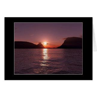 Carte Coucher du soleil de littoral
