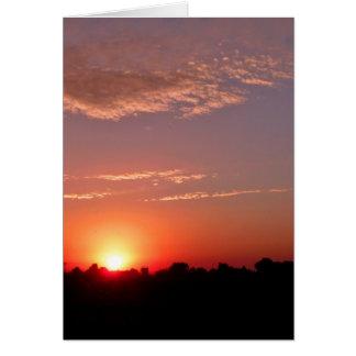 Carte Coucher du soleil de pays de l'Idaho