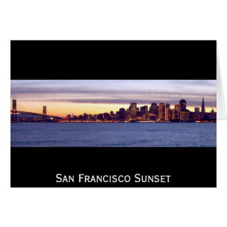 Carte Coucher du soleil de San Francisco