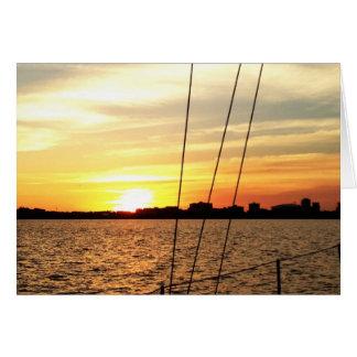 Carte Coucher du soleil de voilier