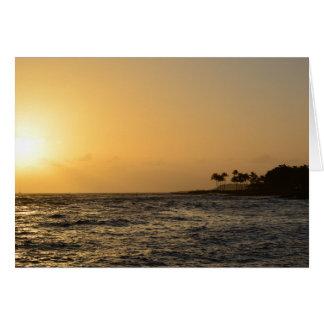 Carte Coucher du soleil d'océan dans Kauai