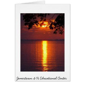 Carte Coucher du soleil du centre éducatif de Jamestown
