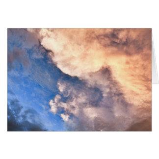 Carte Coucher du soleil et nuages