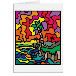 Carte coucher du soleil - masquez à l'intérieur