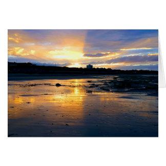 Carte Coucher du soleil sur la plage à Newcastle