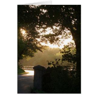 Carte Coucher du soleil sur la route historique