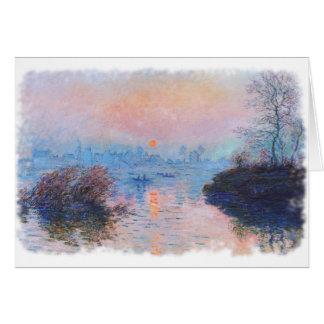 Carte Coucher du soleil sur la Seine par Claude Monet