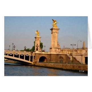 Carte Coucher du soleil sur la Seine, S Cyr