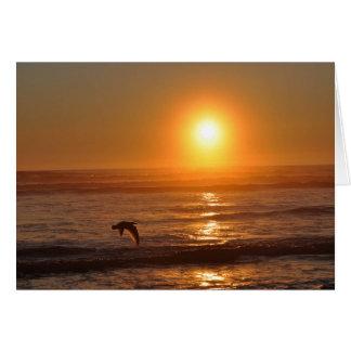 Carte Coucher du soleil sur l'océan pacifique