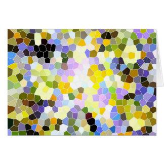 Carte Couleur en verre souillé d'abrégé sur fleurs de
