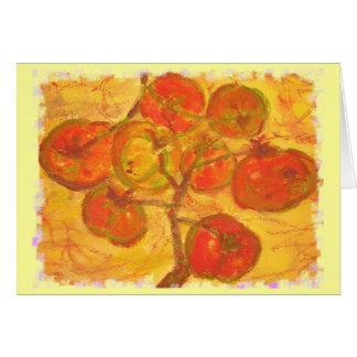 Carte couleur pour aquarelle de groupe de tomate
